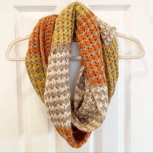Anthropologie Multicolor Knit Infinity Scarf NWOT